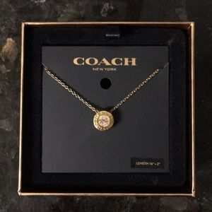 Coach Jewelry - COACH Goldtone Pendant Necklace